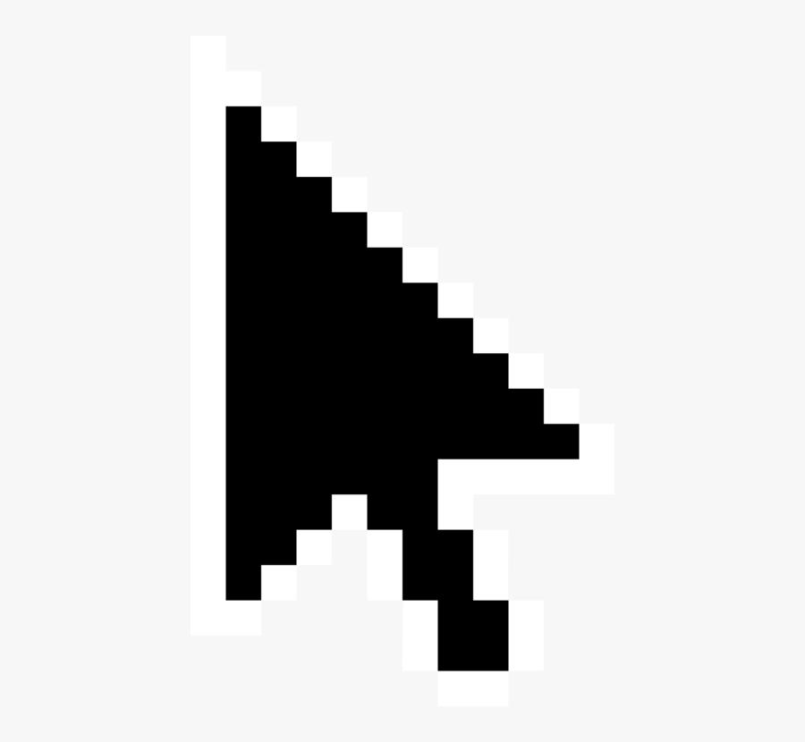 Pointer Transparent Computer Mouse - Mouse Minecraft Pixel Art, Transparent Clipart