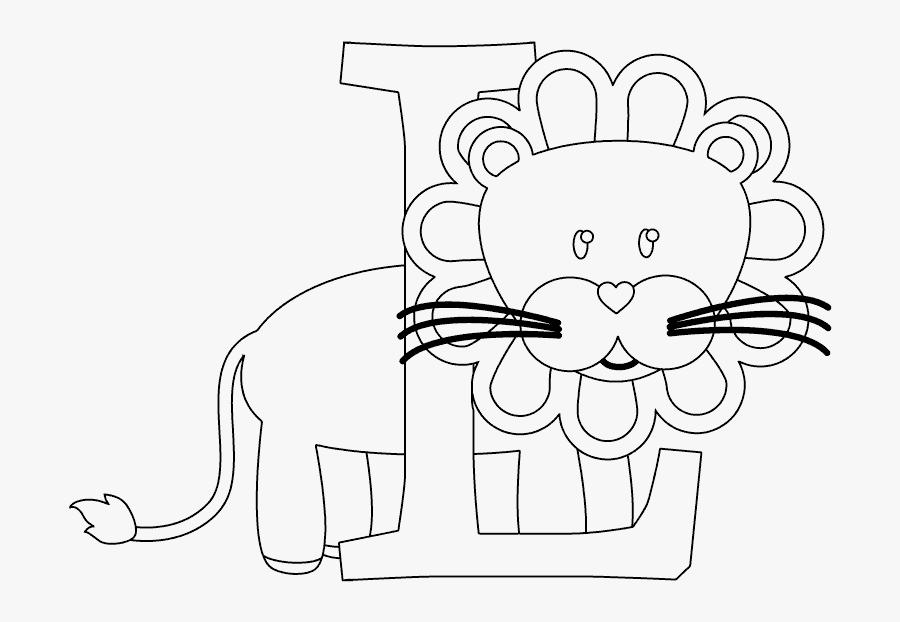 Clip Art Coloring Page Com - L Is For Lion Coloring Pages, Transparent Clipart