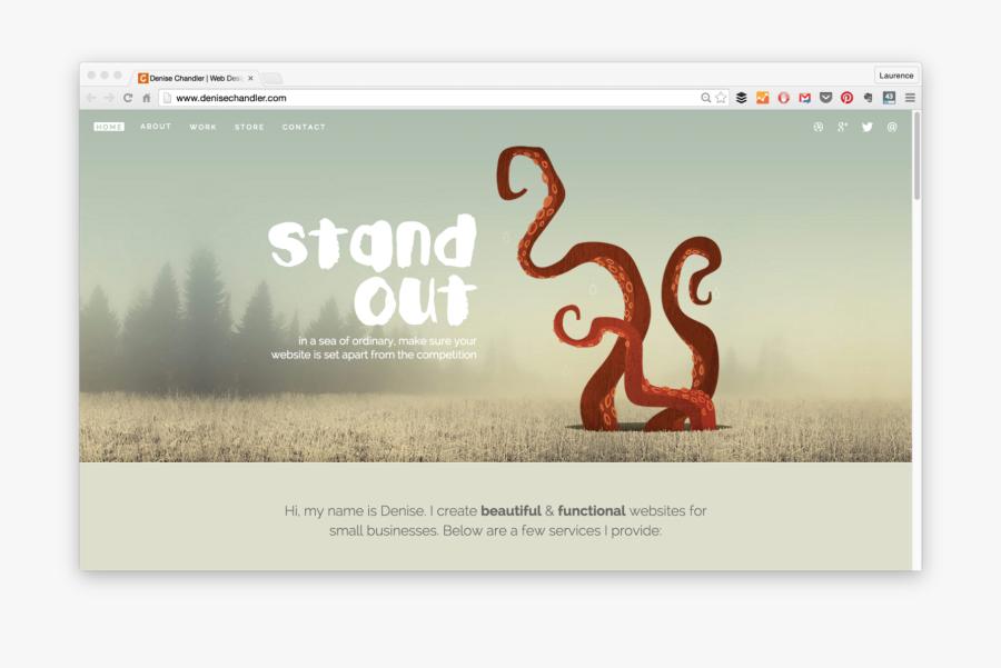 Clip Art Best Graphic Design Portfolio Websites - Denise Chandler Website, Transparent Clipart