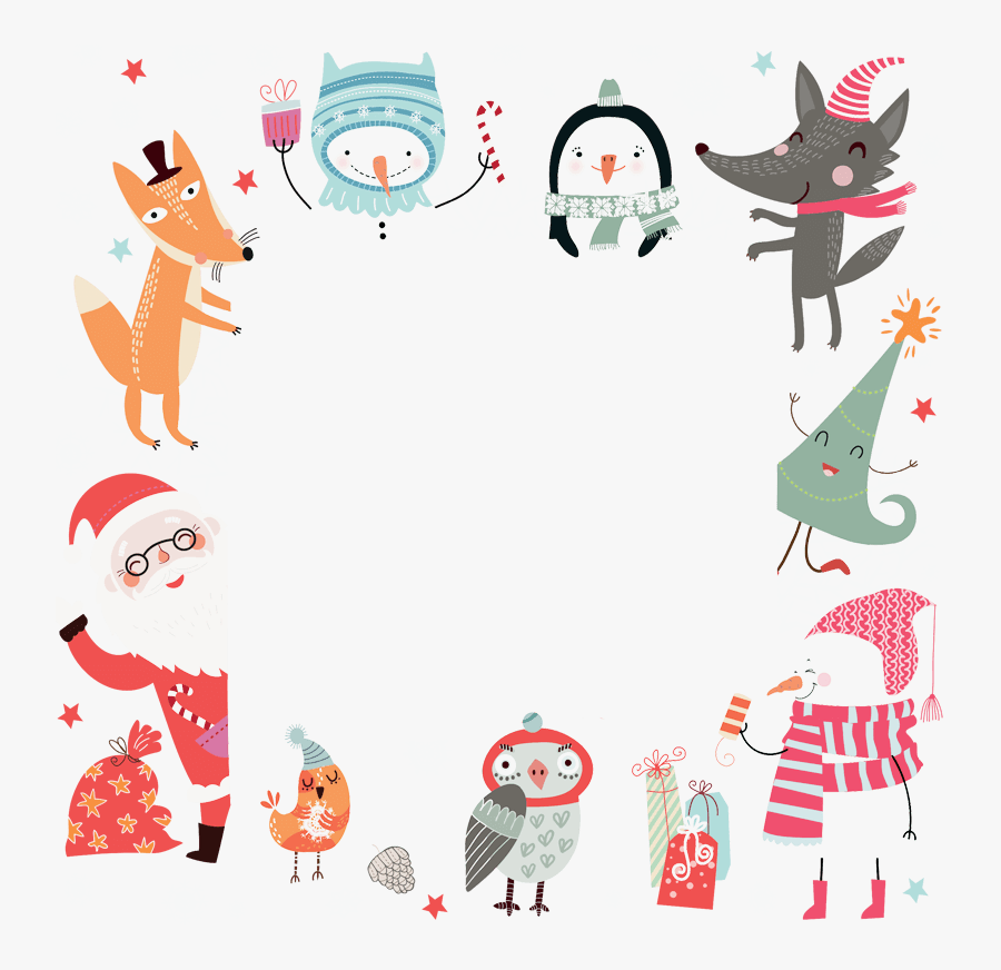 Christmas Gift Tag For Friends, Transparent Clipart