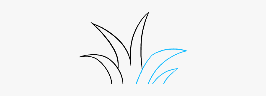 How To Draw Grass - Line Art, Transparent Clipart