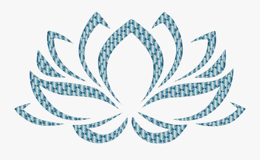 Clipart - Lotus Flower Hindu Symbols, Transparent Clipart