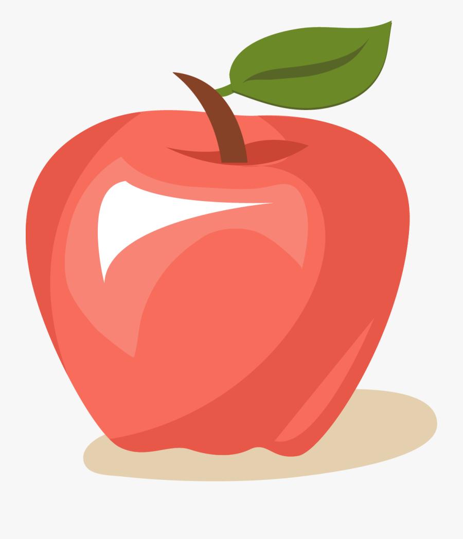 Clip Art Cartoon Transprent Png - Apple Fruit Cartoon Transparent Background, Transparent Clipart