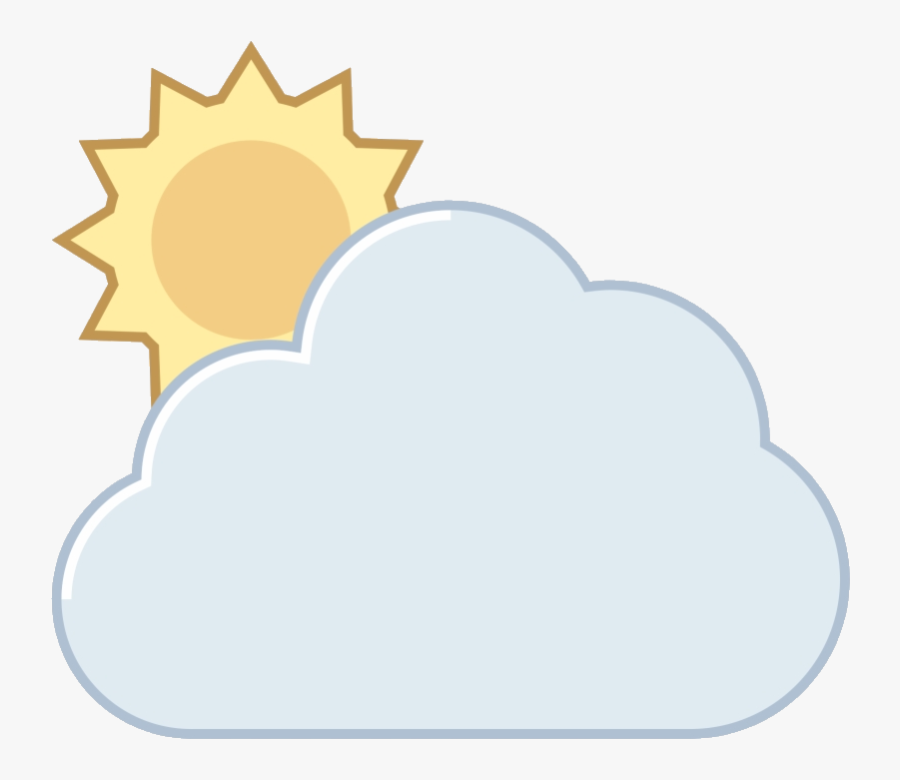 Partly Cloudy Free Weather Icon Fixed-gear Bicycle - Partly Cloudy, Transparent Clipart