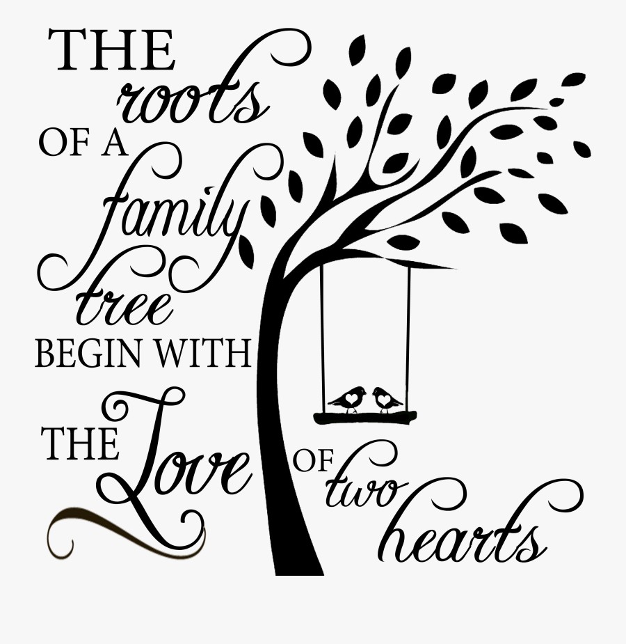 Transparent Family Quotes Png - Family Tree With Roots Png, Transparent Clipart