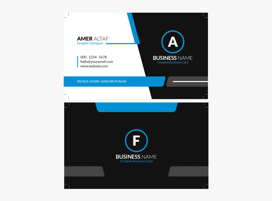 Creative Business Cards - New Business Card Design Png, Transparent Clipart