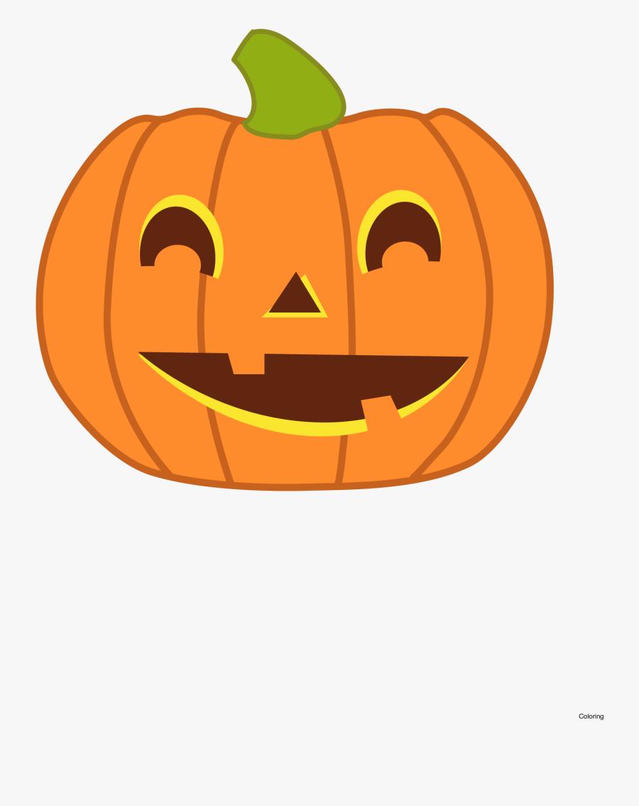 Halloween Clip Art Pumpkin - Transparent Background Pumpkin Clipart, Transparent Clipart