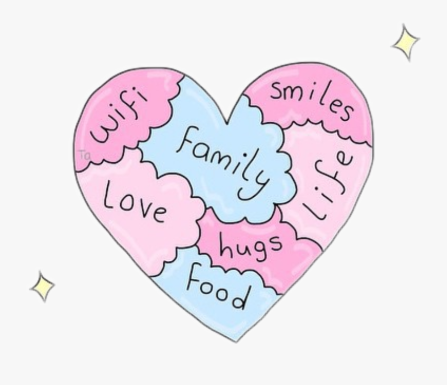 #heart #love #wifi #family #smiles #food #life #hugs - Heart, Transparent Clipart