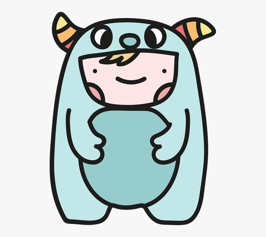 Baby, Child, Monster, Cartoon, Cute, Girl, People - รูป การ์ตูน ที่ น่า รัก, Transparent Clipart