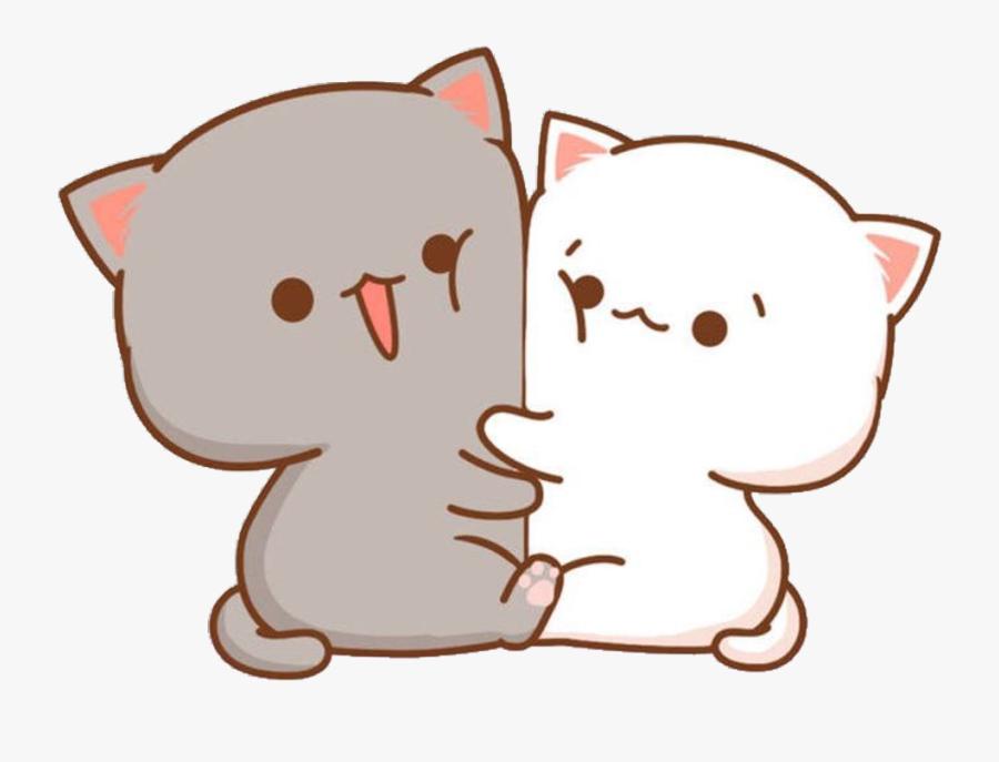 #kawaii #cute #little #hearts #stickers #sticker #png - Chibi Cute Cat Drawing, Transparent Clipart