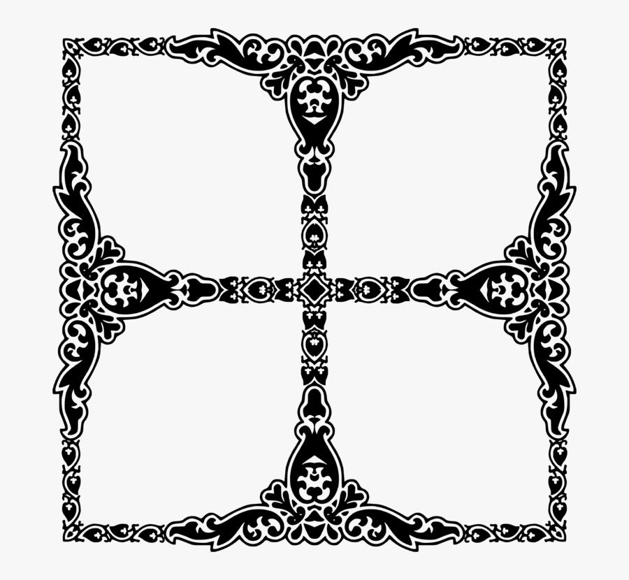 Visual Arts,symmetry,area - Frame 4 Photo Png, Transparent Clipart