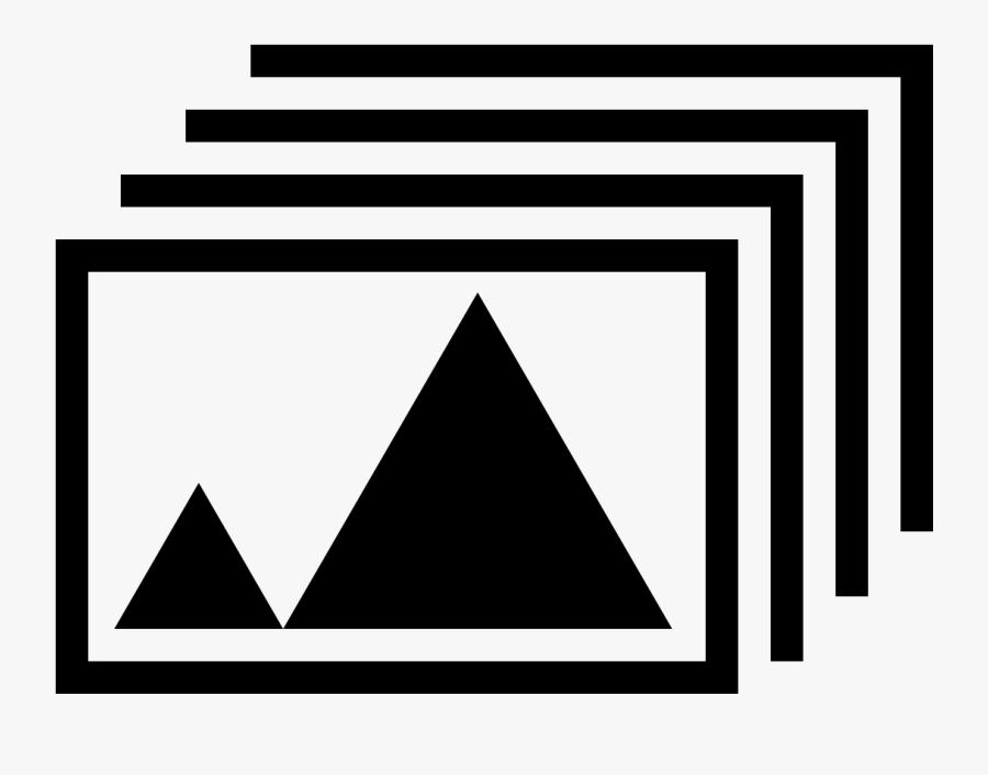Slide Show Icon White, Transparent Clipart