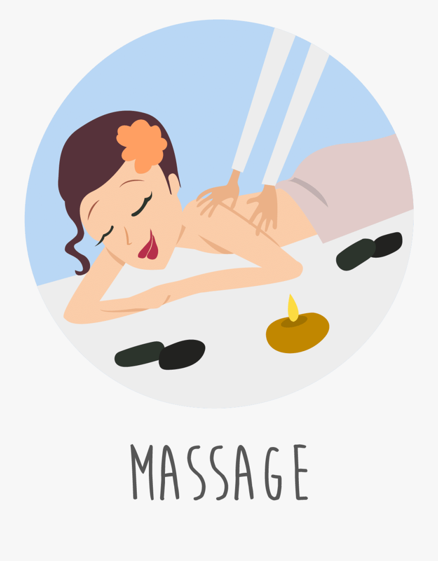 Spa Black And - Body Massage Cartoon Png, Transparent Clipart