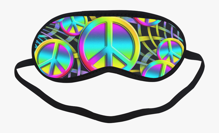 Colorful Peace Pattern Sleeping Mask - Clipart Sleeping Mask Transparent, Transparent Clipart