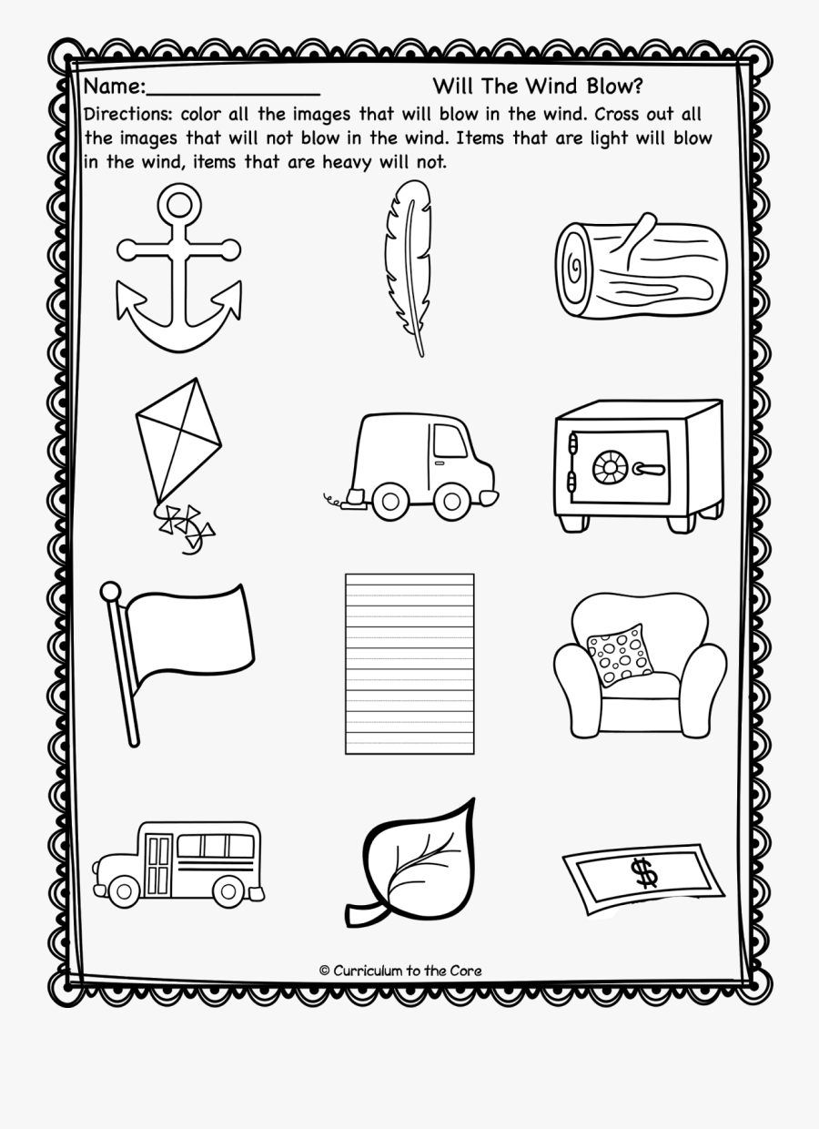 Can The Wind Blow Worksheet, Transparent Clipart