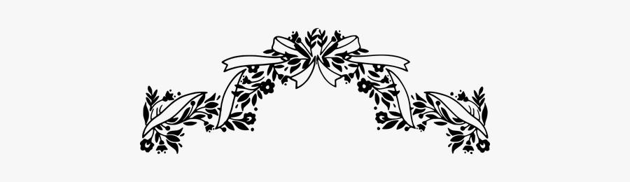 Ribbon Header - Design Headers Black And White, Transparent Clipart