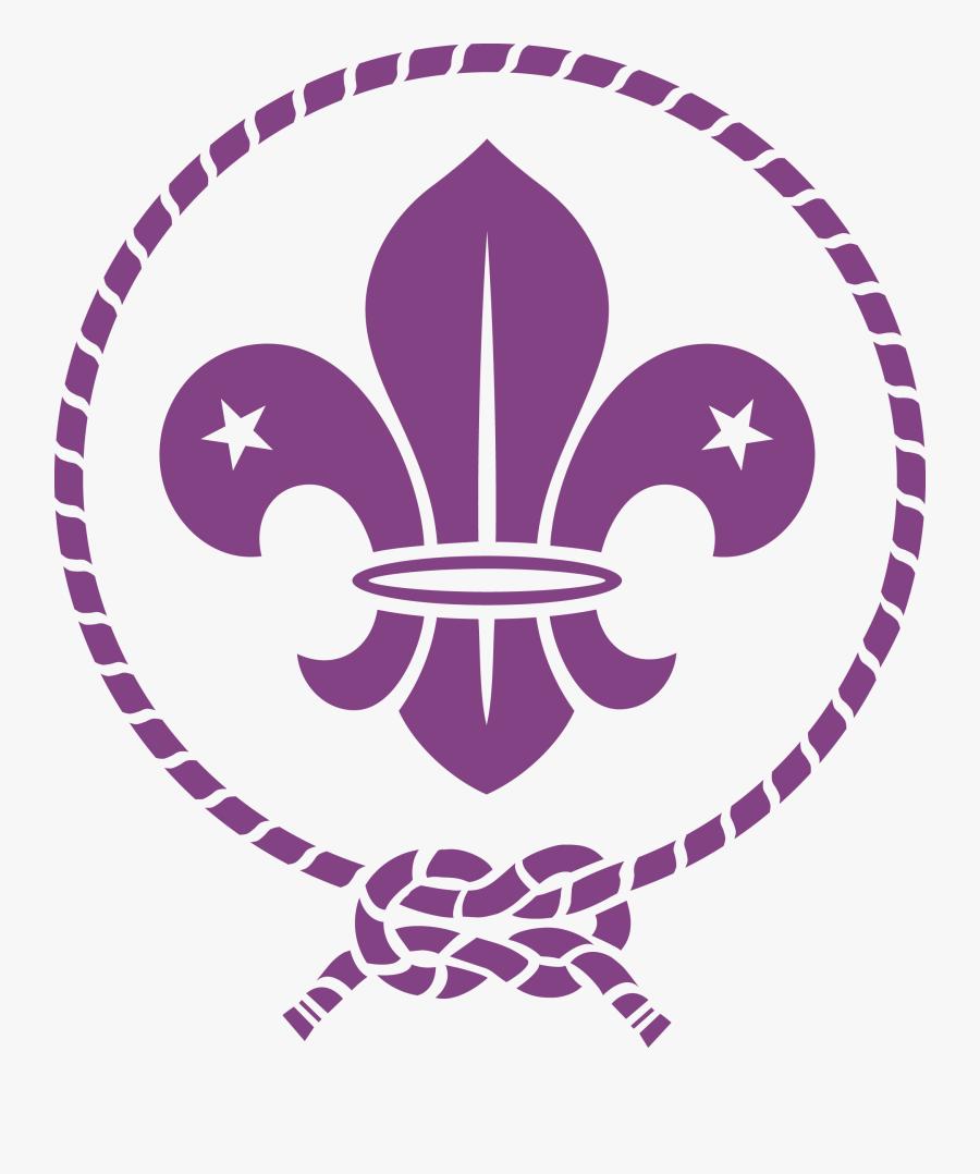 Purple,violet,clip Art,line Art,symbol,graphics - Fleur De Lys Scout, Transparent Clipart