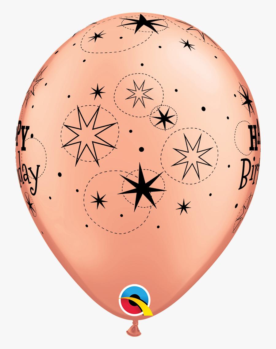 Peach Happy Birthday Balloons, Transparent Clipart