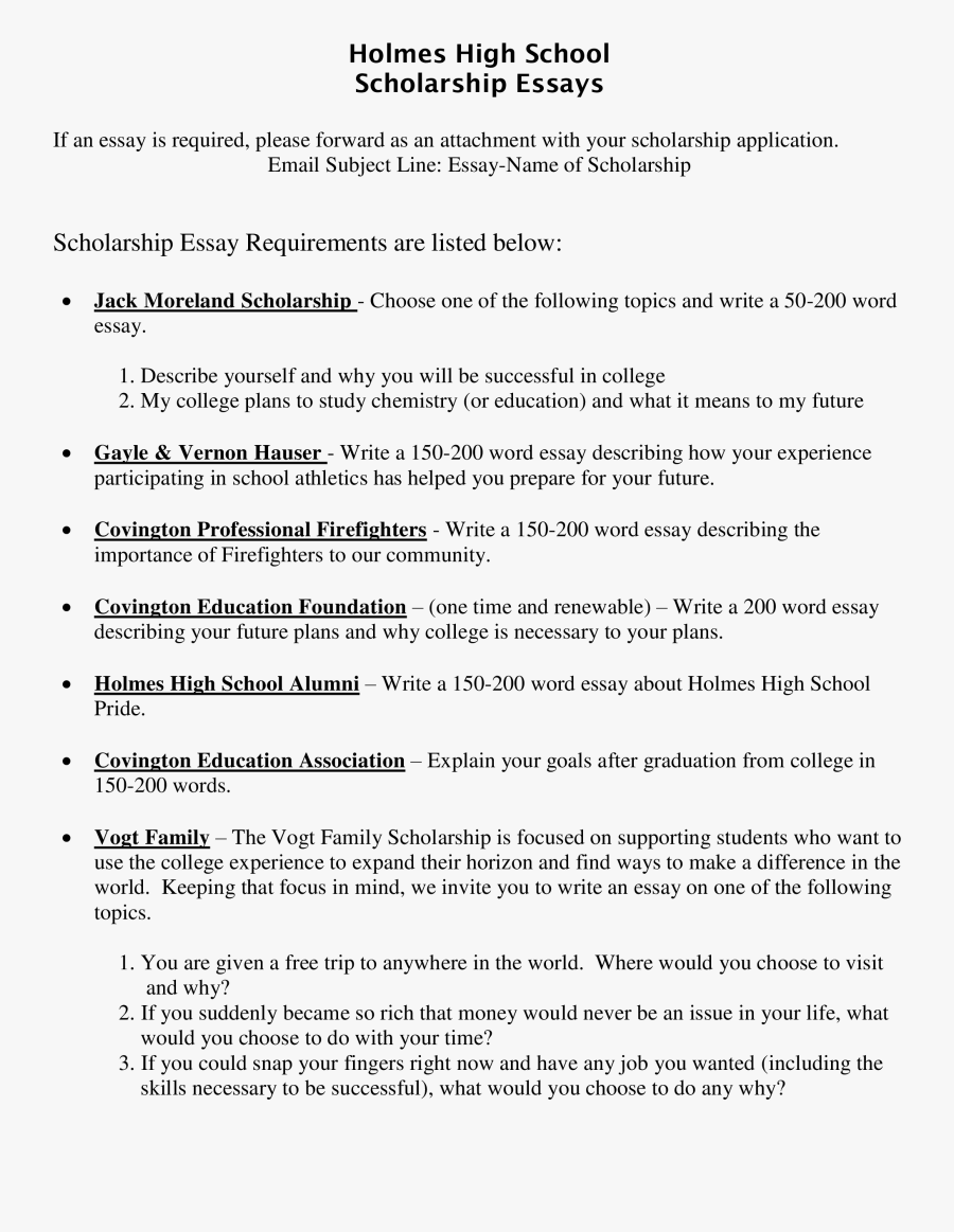 Example essay for scholarship