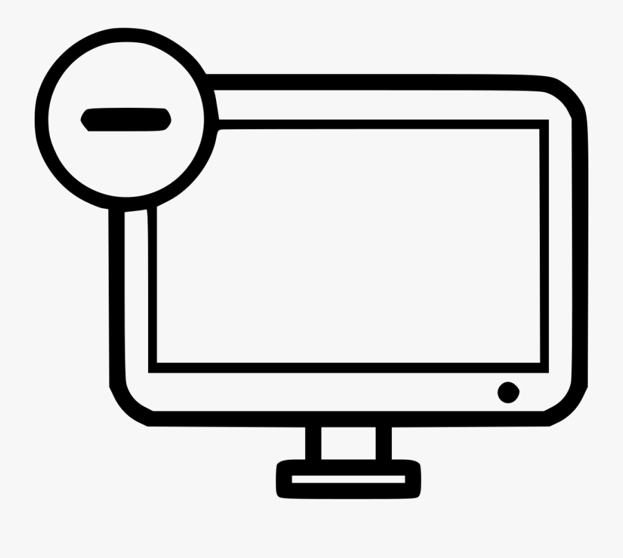 Screen Minus Remove Computer Desktop Monitor Comments - Transparent Computer Setting Icon, Transparent Clipart