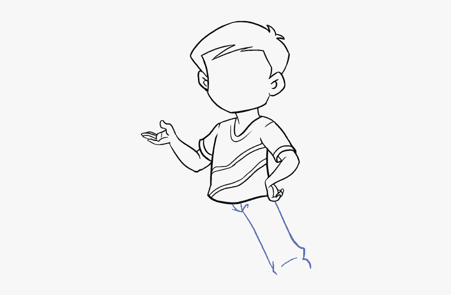 How To Draw Boy - Draw A Cartoon Boy, Transparent Clipart