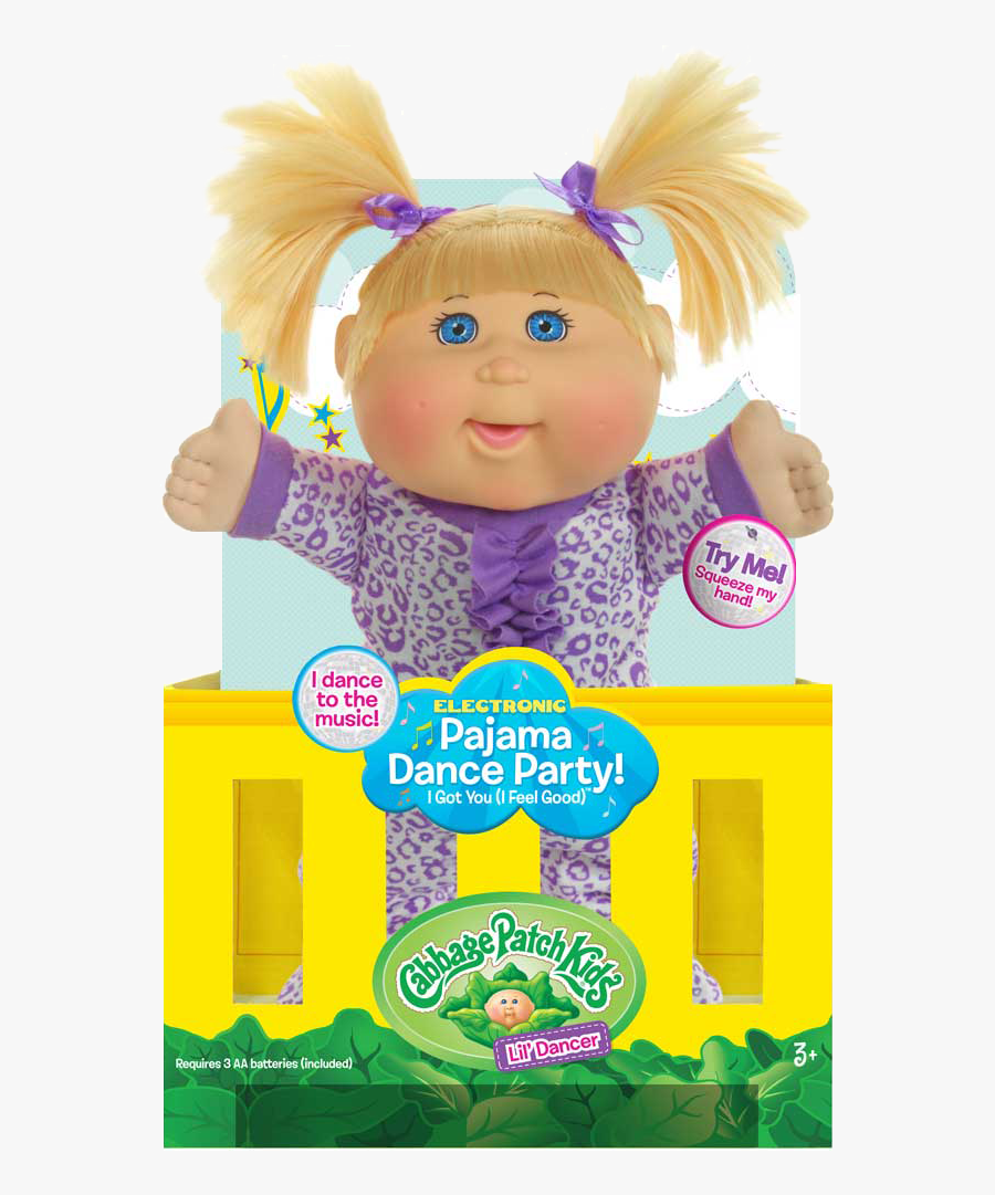 Cpk Pajama Dance Packaging - Cabbage Patch Doll Blonde , Free Transparent  Clipart - ClipartKey