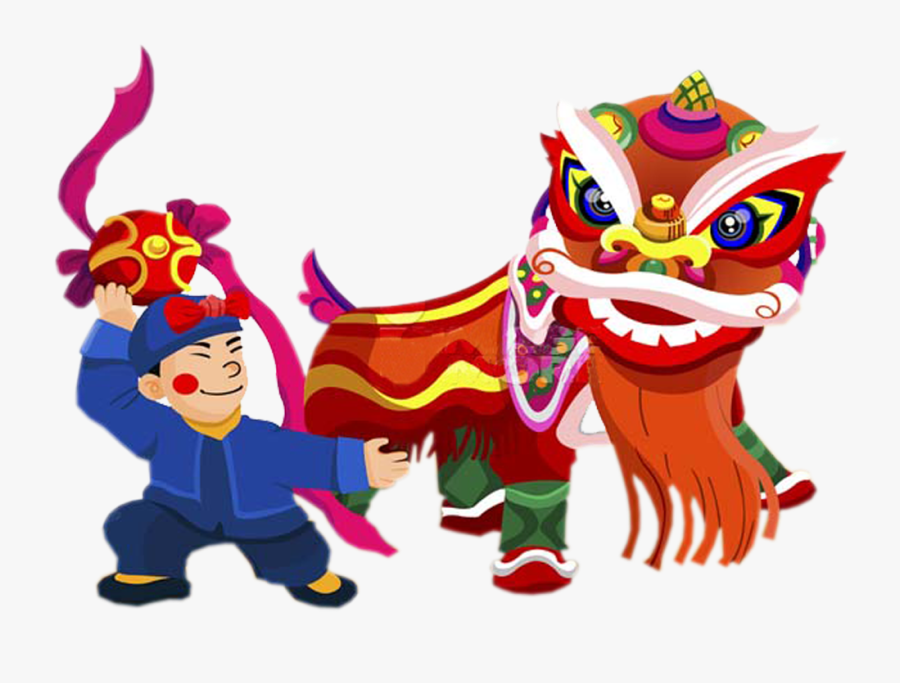 Chinese New Year Png - Lion Dance Chinese New Year Clip Art, Transparent Clipart