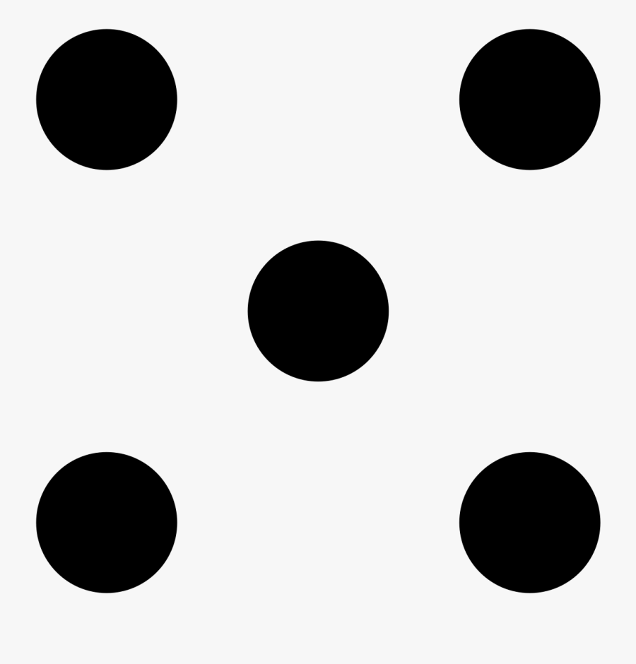 5 Dice Dots Clipart , Png Download - Circle , Free Transparent ...