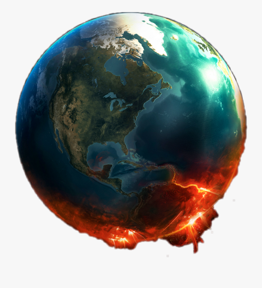 Earth On Fire Png - Transparent Earth On Fire, Transparent Clipart