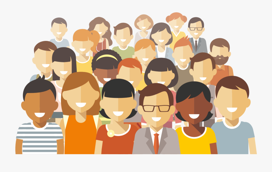 Transparent Group Of People Png - Multicultural Society, Transparent Clipart