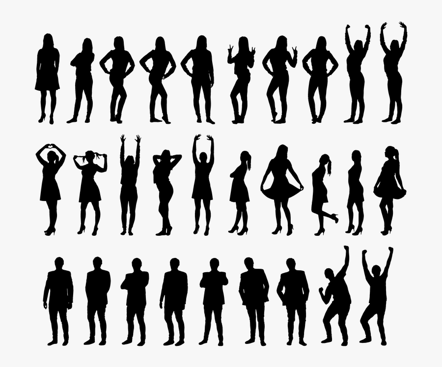 Silhouette Clip Art - Silhouette Png Black People, Transparent Clipart