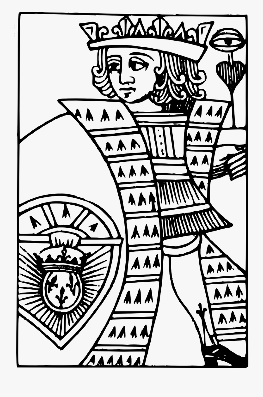 Playing Card King Card Deck Free Picture - Playing Card Deck Line Art, Transparent Clipart