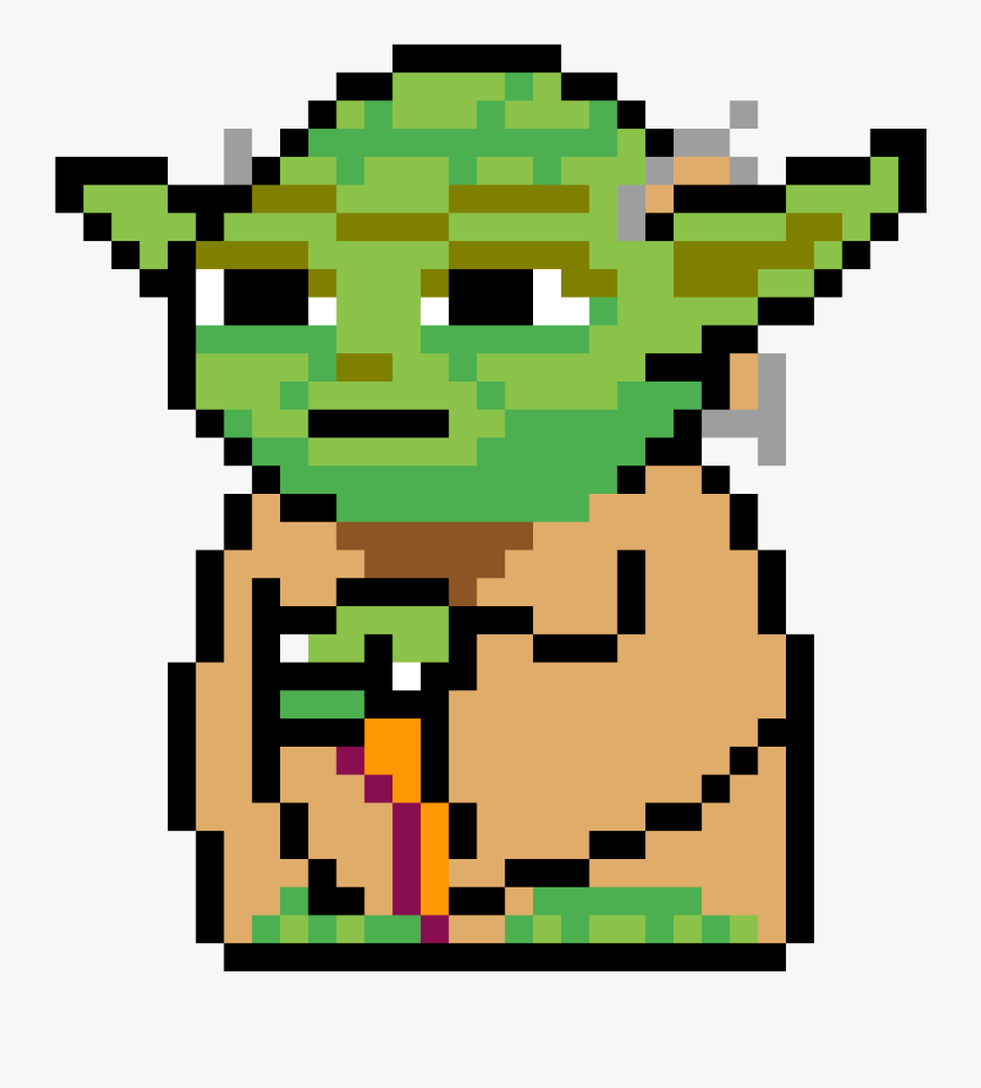 Star Wars Pixel Art Yoda Free Transparent Clipart Clipartkey