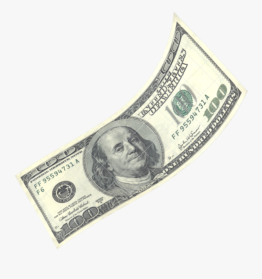 Hundred Dollar Bill Png, Transparent Clipart