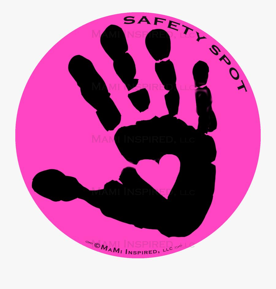 Handprint Transparent Toddler - Hand Spot For Car, Transparent Clipart