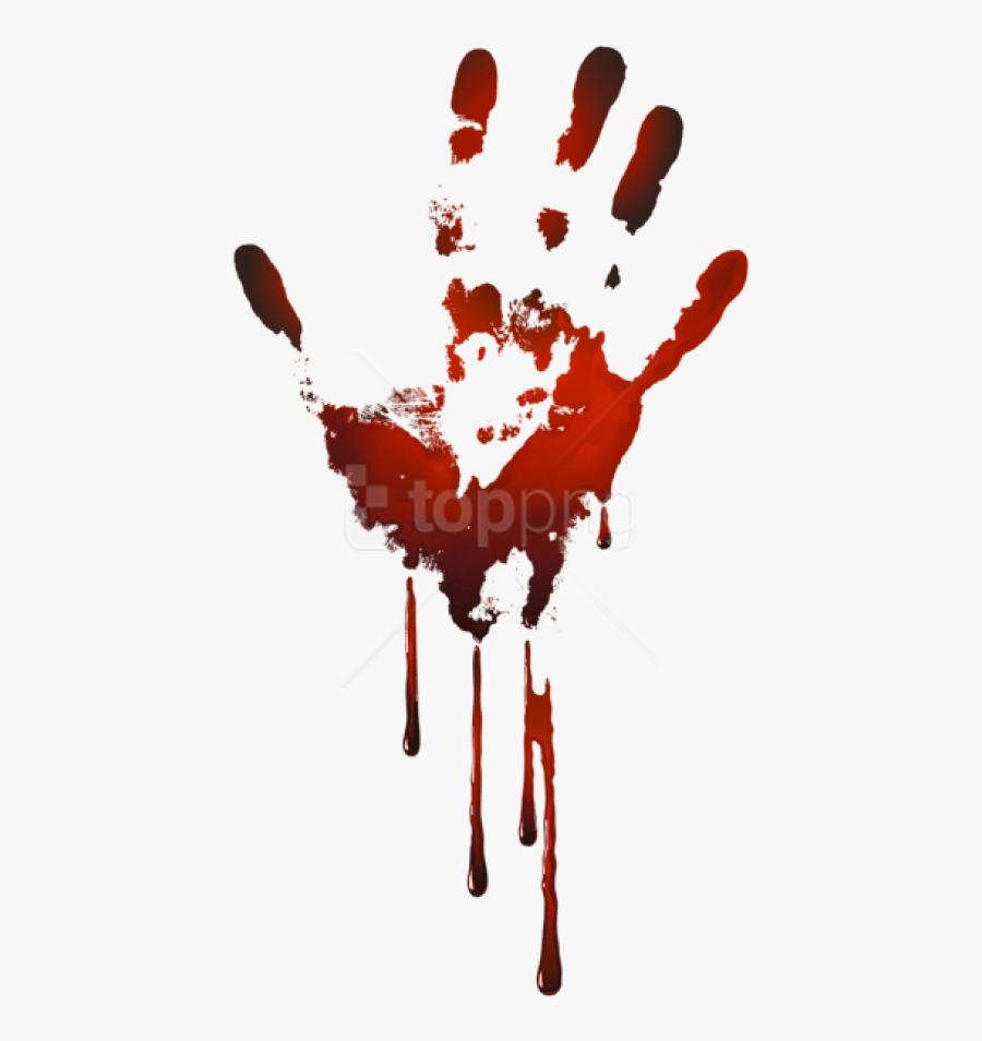 Transparent Color Splat Png - Bloody Handprint Transparent Background, Transparent Clipart