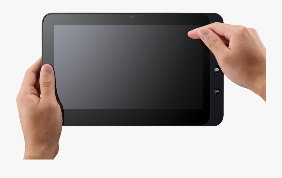Hand Holding Tablet Png, Transparent Clipart