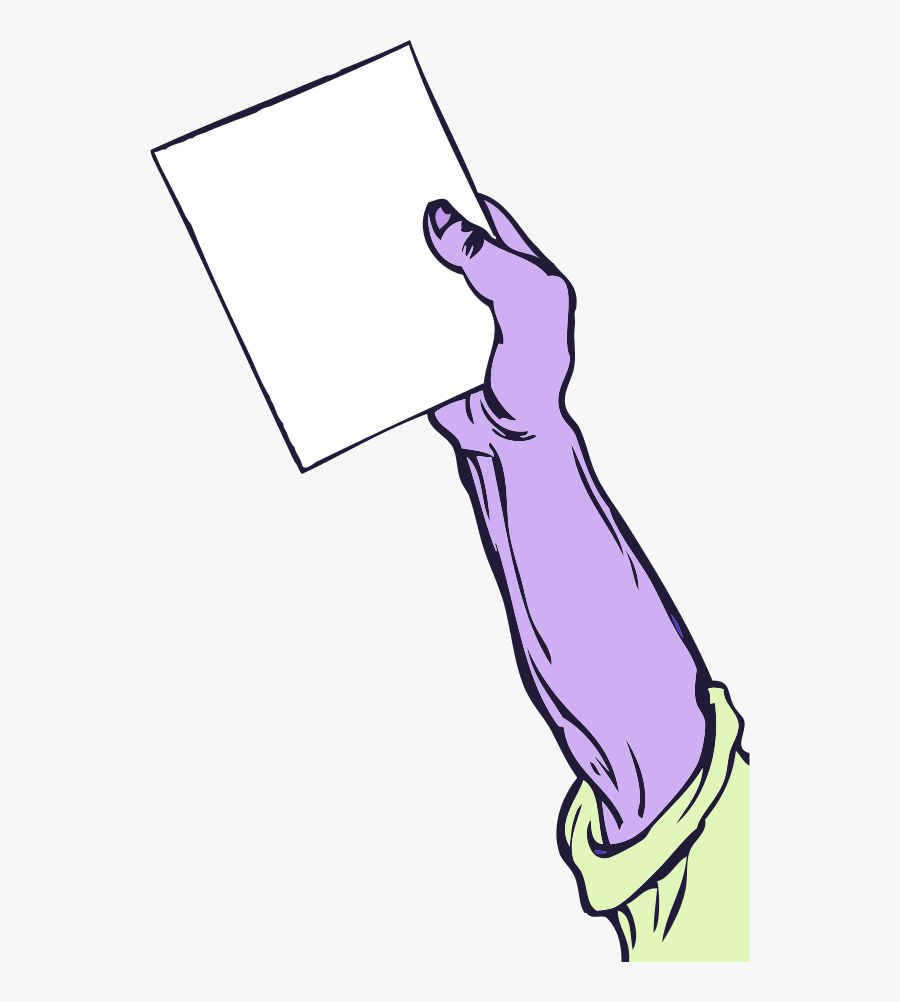 Hand Holding Paper - Hand Holding Paper Drawing, Transparent Clipart