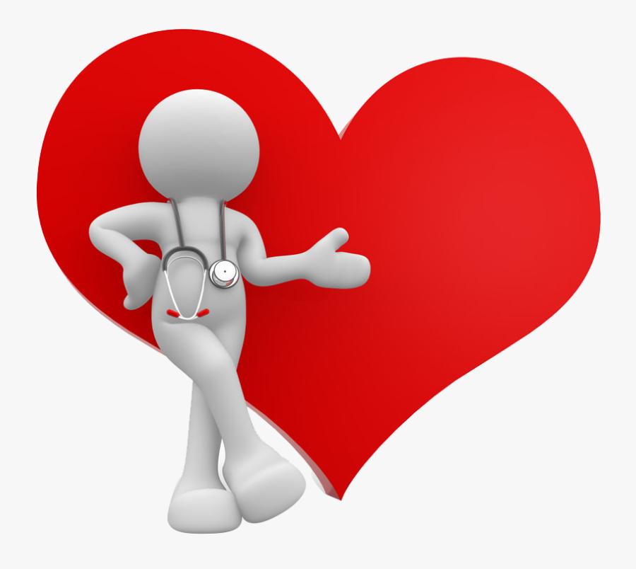 Transparent Heart Person Clipart - Doctor Heart Png, Transparent Clipart