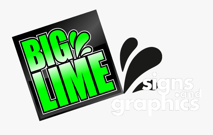 Biglime Signs Banner - Graphic Design, Transparent Clipart