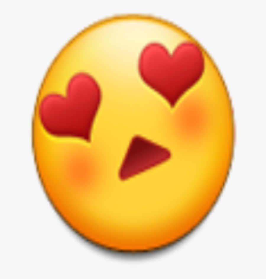 Transparent Heart Eyes Emoji Png - Android Love Eyes Emoji, Transparent Clipart