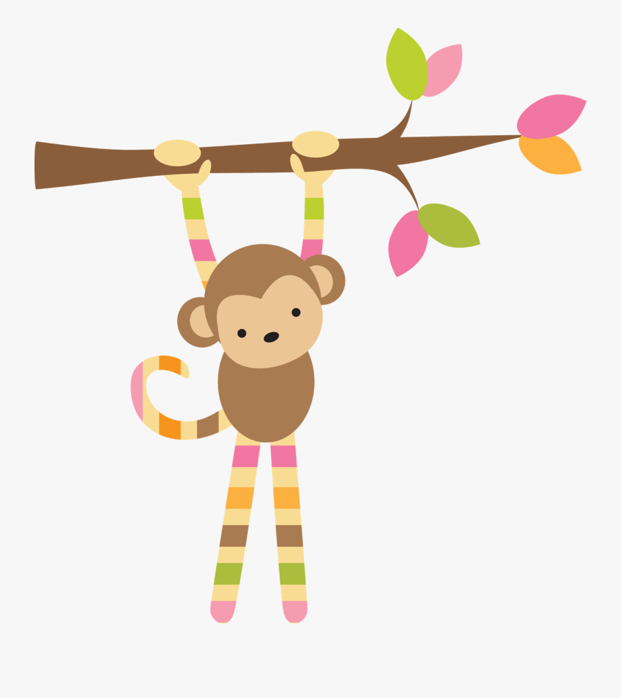 Large 14 Inch Prints Free - Baby Girl Wall Monkey, Transparent Clipart