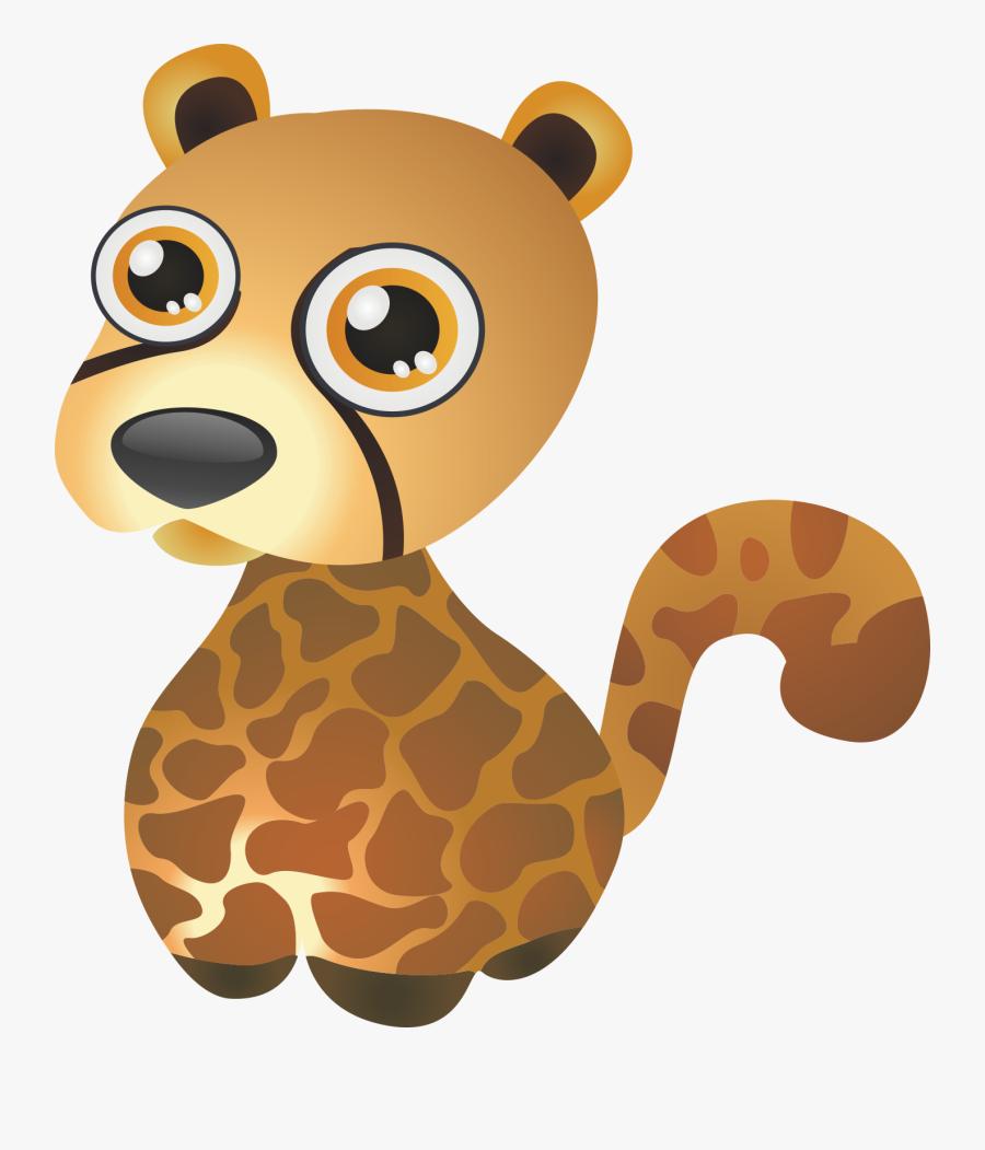 Leopard Cheetah Transprent Png - Cartoon Wild Animals, Transparent Clipart