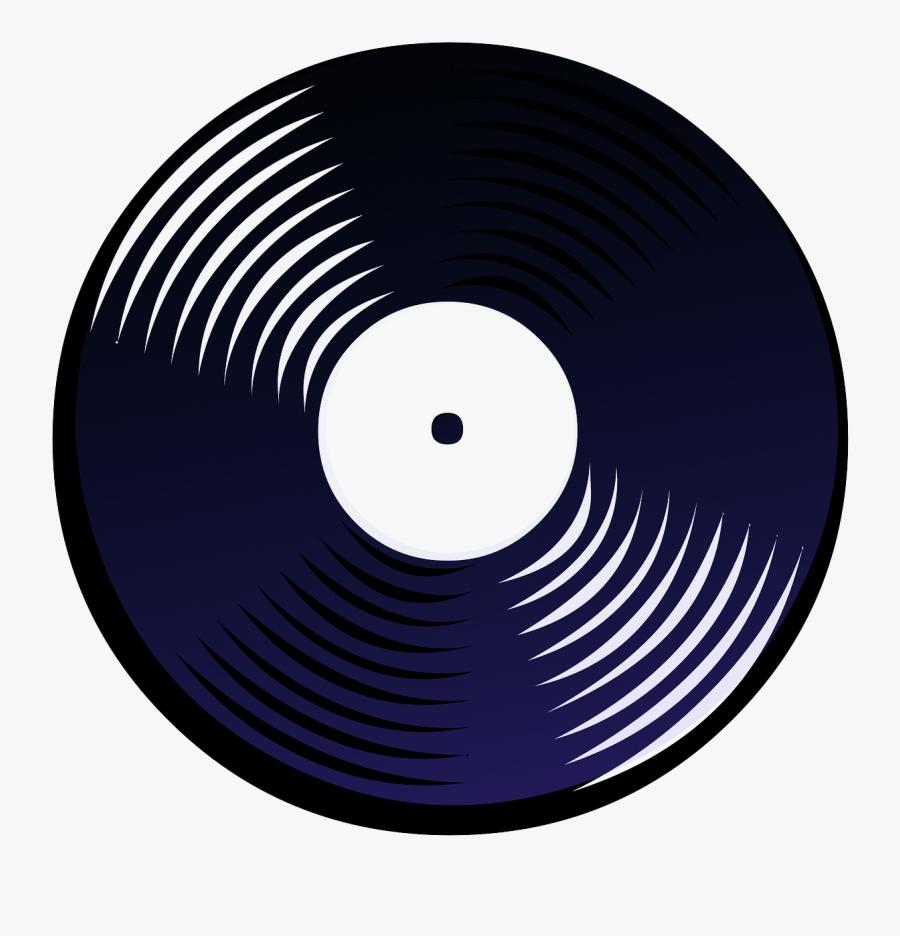 Vinyl Disc Silhouette, Transparent Clipart