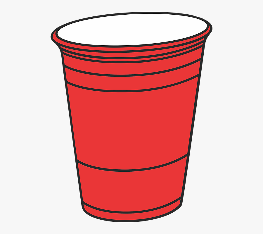 Drink, Empty, Container, Liquid, Glass, Solo Cup, Beer - Red Solo Cup Transparent, Transparent Clipart