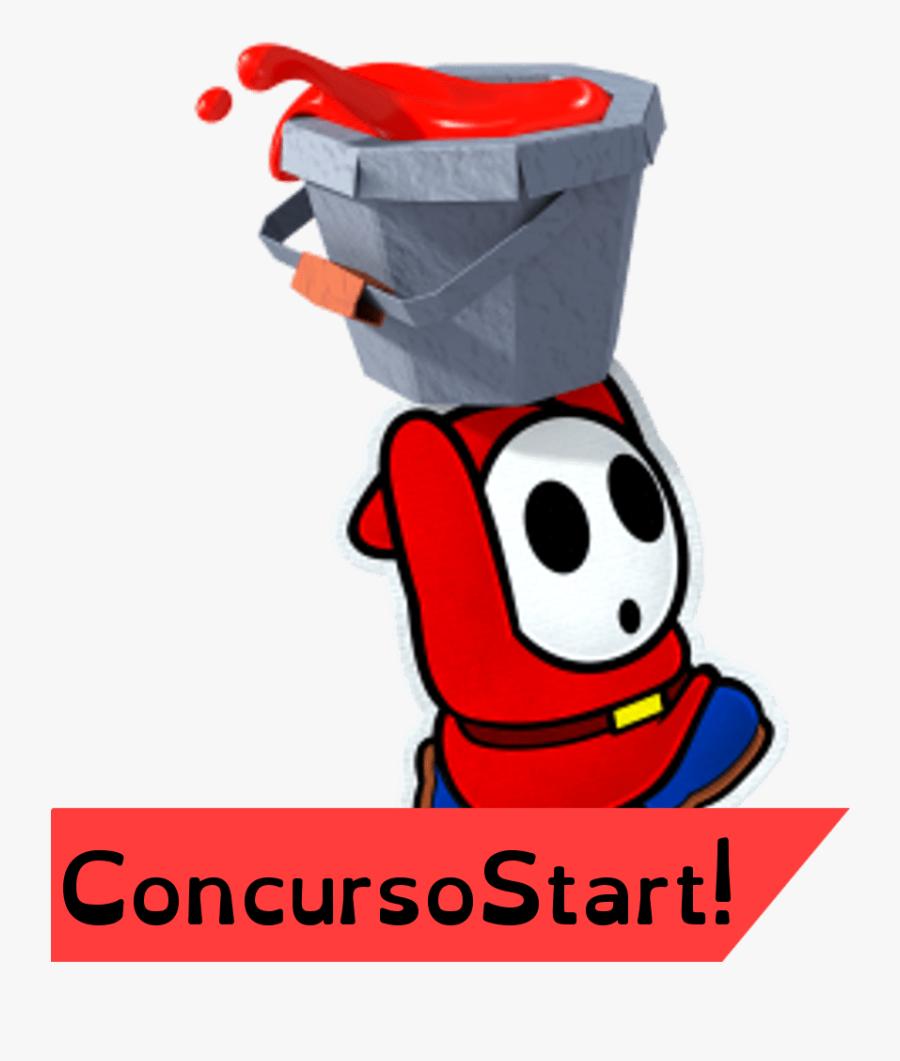 Paper Mario Color Splash Shy Guy, Transparent Clipart