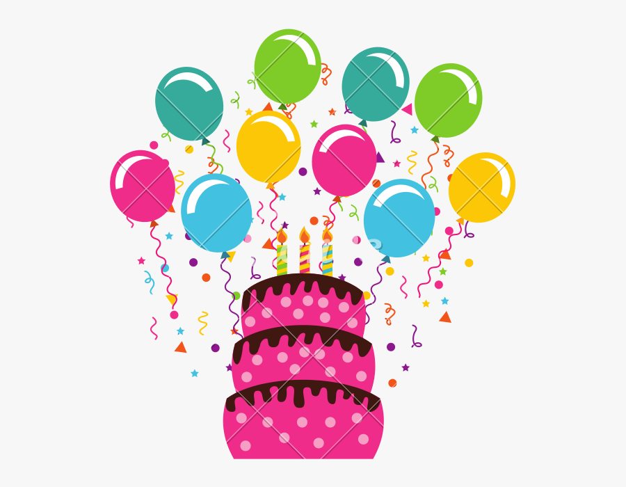 Clip Art Birthday Celebration Images - My Birthday In April, Transparent Clipart