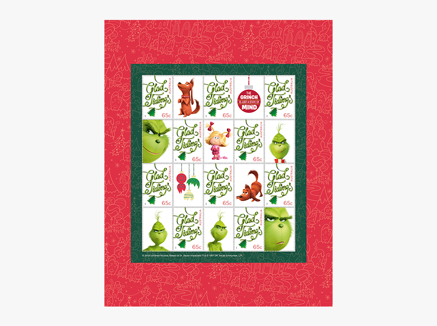 The Grinch Stamp Pack Product Photo Internal 1 Details - Grinch Cross Stitch Card Patterns, Transparent Clipart