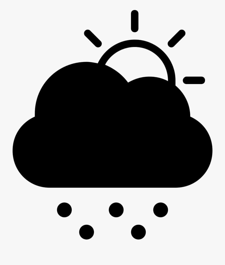 Cold Stormy Day Weather Symbol Of Dark Cloud Hiding - Daytime Snow Weather Symbol, Transparent Clipart