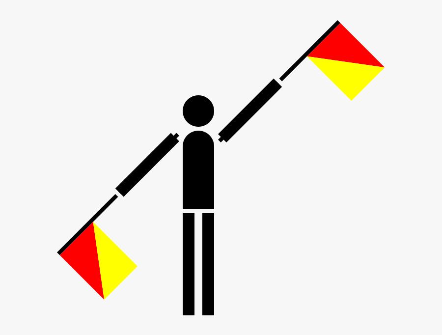 Semaphore Flag Letter L, Transparent Clipart